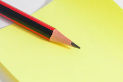 Pencil and Color sheets on the table Royalty Free Stock Images
