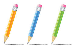 Pencil with color variations Royalty Free Stock Images