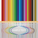 Pencil color vector Royalty Free Stock Photography