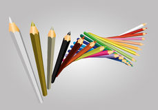 Pencil color vector Royalty Free Stock Images