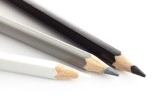 Pencil color white silver gray black Stock Image