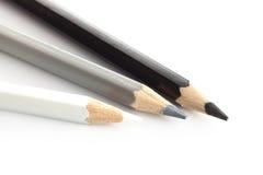 Pencil color white silver gray black Stock Image