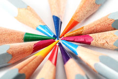 Pencil. Colored pencils photographed with white background in studio environment Stock Photos
