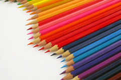 Pencil. Colored watercolor pencils stacked rainbow Stock Photography
