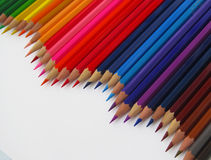 Pencil. Colored watercolor pencils stacked rainbow Stock Photos