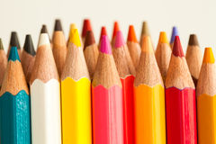 Pencil. Colorful of pencil in warm tone Royalty Free Stock Photo