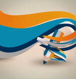 Pencil with colorful waves Stock Photos