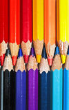 Pencil colors. A bounch of pencil colors aligned Royalty Free Stock Photo