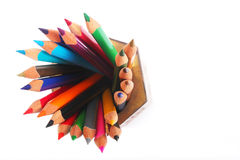 Pencil colors Stock Images
