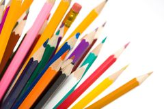 Pencil colors Stock Image