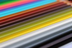 Pencil colors diagonal gradient texture. In a box stock images