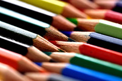Stationery viewing,stationery picture,stationery image,Pencil,colour,concept. Colored pencils arranged as sprockets Stock Photography