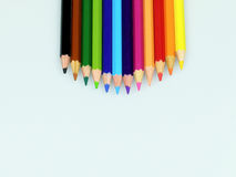 Pencil Colour isolated in white background Stock Images