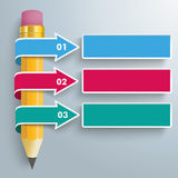 Pencil 3 Convert Arrows Royalty Free Stock Photography