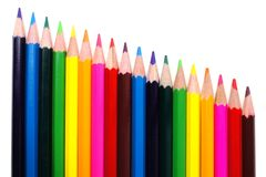 Pencil crayon border Stock Image