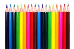 Pencil crayon border Royalty Free Stock Photos