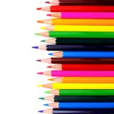 Pencil crayon border Royalty Free Stock Image