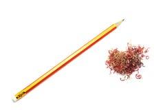 Pencil and crayon shavings Stock Photos