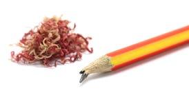 Pencil and crayon shavings Royalty Free Stock Photos
