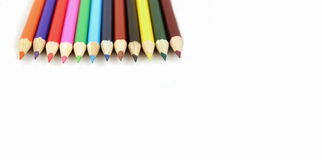 Pencil Crayons. On a white background royalty free stock image