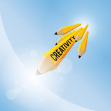 Pencil Creativity Concept Royalty Free Stock Photography
