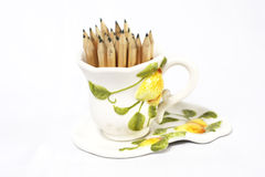Pencil in a cup Stock Images