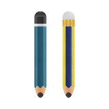 Pencil is cute cartoon illustration isolated icon on a white bac Royalty Free Stock Photography