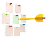 Pencil dart with arrow Stock Images