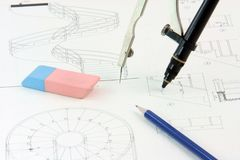 Pencil and design Royalty Free Stock Photography