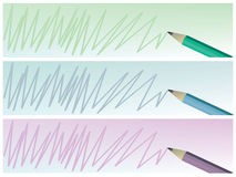 Pencil design Banners Royalty Free Stock Images