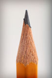Pencil detail on a grey vignette background Royalty Free Stock Photos