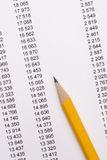 Pencil on documents Royalty Free Stock Image