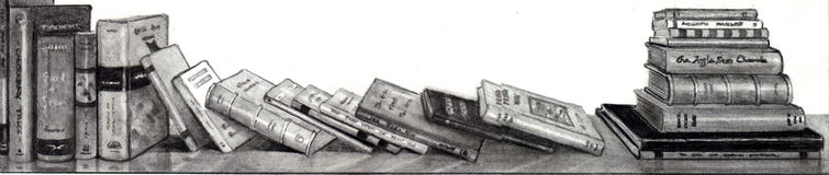 Pencil Drawing of Books Royalty Free Stock Photography