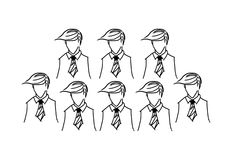 Pencil drawing of a business man Stock Images