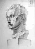 Pencil drawing of Gattamelata's head Stock Photography