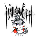 Pencil drawing of a Halloween Title Royalty Free Stock Photos