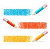 Pencil Drawing Header. Vector Royalty Free Stock Image