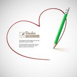 Pencil drawing heart. Royalty Free Stock Photography