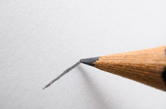 Pencil Drawing a Line Macro Royalty Free Stock Photos