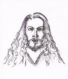 Albrecht durer portrait sketch. Masters collection. great painters. historical characters. hand drawn artistic illustration, handmade painting. pencil drawing Stock Photos