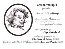 Antoon van dyck biography sketch. Masters collection. great painters. historical characters. hand drawn artistic illustration, handmade painting. pencil drawing Stock Photography