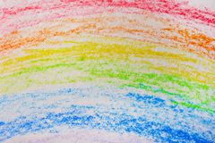 Pencil drawing of rainbow. As background Stock Images