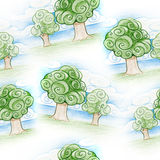 Pencil drawing seamless pattern Stock Photography