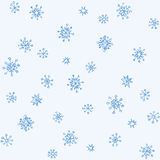 Pencil drawing snowflake sketch. Set of fun cute eve natal simple icy asterisk blue sky card template for wrapping nativity design. Freehand outline ink hand Stock Image