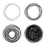 Pencil drawn circles bubbles Royalty Free Stock Images