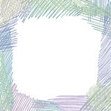 Pencil drawn doodle frame square shape. Abstract sketched backgr Stock Photography