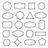 Pencil drawn shapes Royalty Free Stock Photo