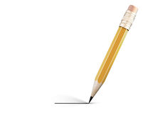 Pencil draws a line. 3d. Royalty Free Stock Photography