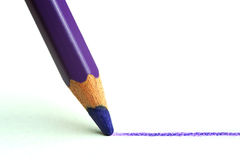 Pencil draws a line Stock Photos