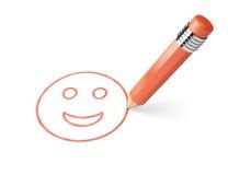Pencil draws smiley Royalty Free Stock Image